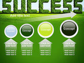 Green Grass Word Success PowerPoint Template#13