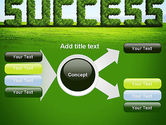 Green Grass Word Success PowerPoint Template#14