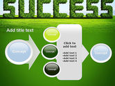 Green Grass Word Success PowerPoint Template#17