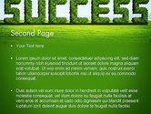 Green Grass Word Success PowerPoint Template#2