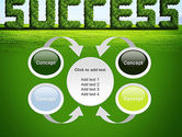 Green Grass Word Success PowerPoint Template#6