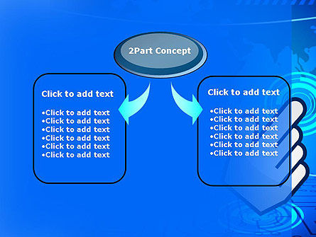 Hand Pointer Touches the World Map PowerPoint Template Slide 4