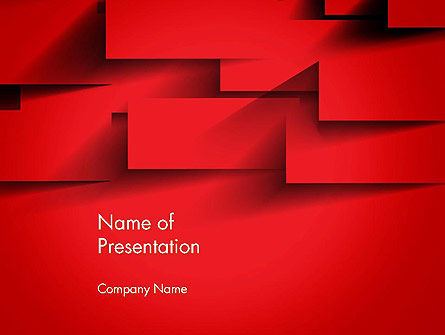 Red Square Paper Cuts Abstract PowerPoint Template, 13200, Abstract/Textures — PoweredTemplate.com