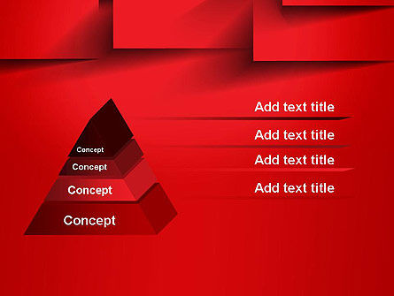 Red Square Paper Cuts Abstract PowerPoint Template Slide 12