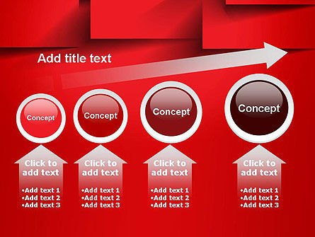Red Square Paper Cuts Abstract PowerPoint Template Slide 13