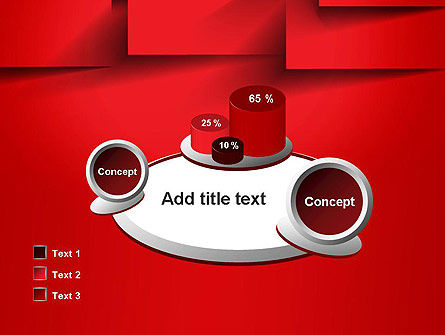 Red Square Paper Cuts Abstract PowerPoint Template Slide 16