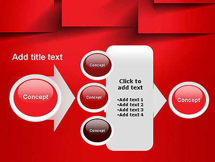 Red Square Paper Cuts Abstract PowerPoint Template Slide 17