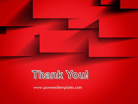 Red Square Paper Cuts Abstract PowerPoint Template Slide 20