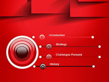 Red Square Paper Cuts Abstract PowerPoint Template Slide 3