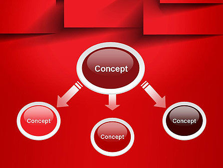 Red Square Paper Cuts Abstract PowerPoint Template Slide 4