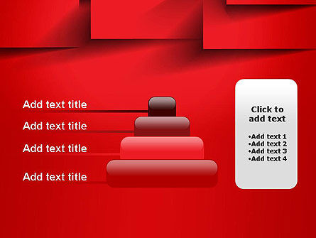 Red Square Paper Cuts Abstract PowerPoint Template Slide 8