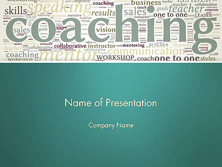 Education & Training: Business Communication Coach PowerPoint Template #13201