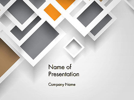Abstract/Textures: Overlapping Squares Abstract PowerPoint Template #13202