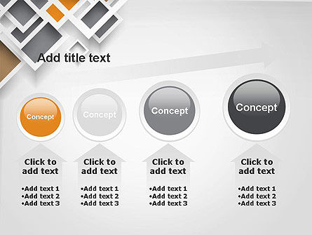 Overlapping Squares Abstract PowerPoint Template Slide 13