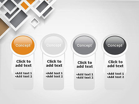 Overlapping Squares Abstract PowerPoint Template Slide 5