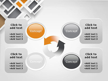 Overlapping Squares Abstract PowerPoint Template Slide 9