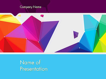 Abstract/Textures: Colorful Polygon Abstract PowerPoint Template #13203