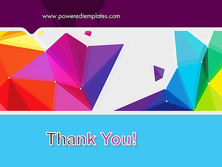 Colorful Polygon Abstract PowerPoint Template Slide 20