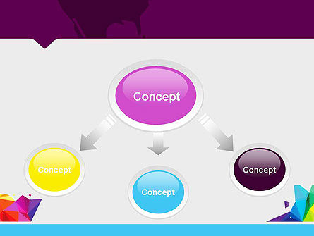 Colorful Polygon Abstract PowerPoint Template Slide 4