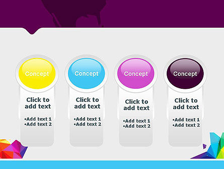 Colorful Polygon Abstract PowerPoint Template Slide 5