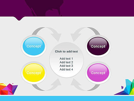 Colorful Polygon Abstract PowerPoint Template Slide 6