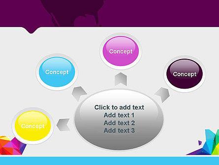 Colorful Polygon Abstract PowerPoint Template Slide 7