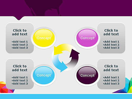 Colorful Polygon Abstract PowerPoint Template Slide 9