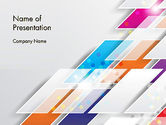 Abstract/Textures: Overlapping Colorful Squares Abstract PowerPoint Template #13205