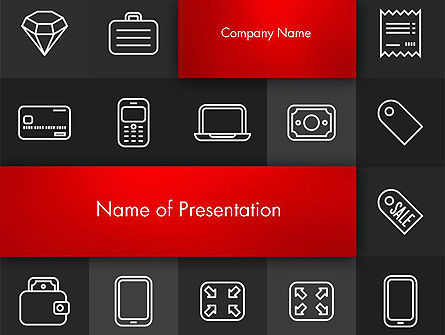 White Icons PowerPoint template