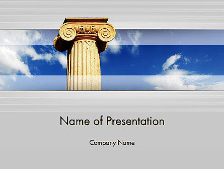 Ionic Column on Sky PowerPoint Template