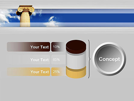 Ionic Column on Sky PowerPoint Template Slide 11