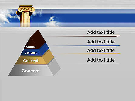 Ionic Column on Sky PowerPoint Template Slide 12