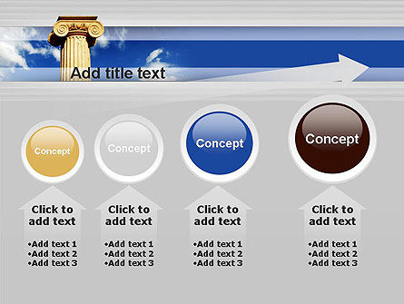 Ionic Column on Sky PowerPoint Template Slide 13