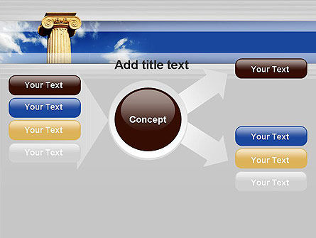 Ionic Column on Sky PowerPoint Template Slide 14