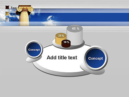 Ionic Column on Sky PowerPoint Template Slide 16