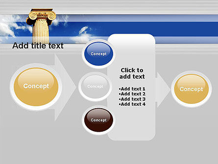 Ionic Column on Sky PowerPoint Template Slide 17