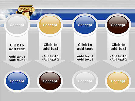 Ionic Column on Sky PowerPoint Template Slide 18