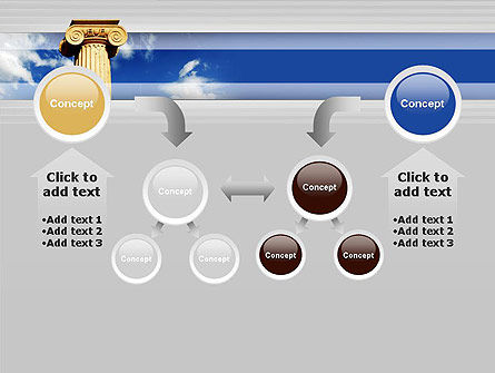 Ionic Column on Sky PowerPoint Template Slide 19