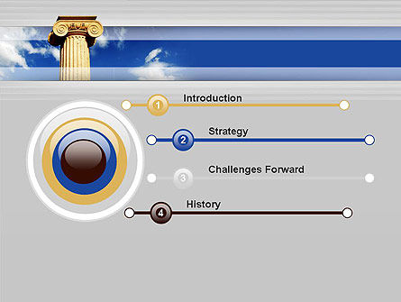 Ionic Column on Sky PowerPoint Template Slide 3