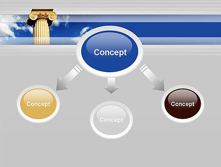 Ionic Column on Sky PowerPoint Template Slide 4