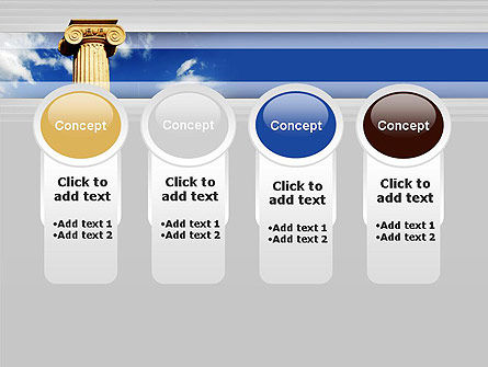 Ionic Column on Sky PowerPoint Template Slide 5