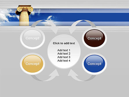 Ionic Column on Sky PowerPoint Template Slide 6