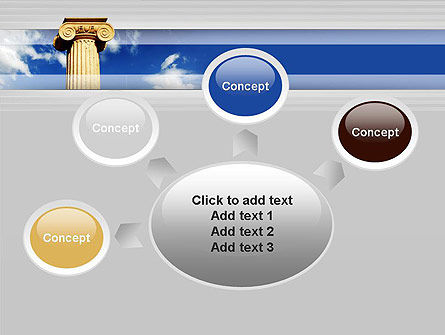 Ionic Column on Sky PowerPoint Template Slide 7