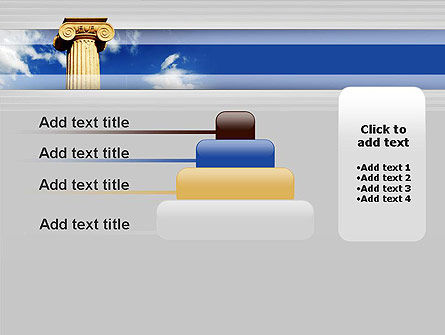 Ionic Column on Sky PowerPoint Template Slide 8