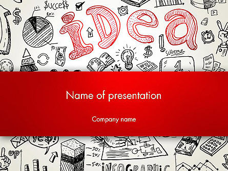 Idea Doodles PowerPoint Template, 13210, Business Concepts — PoweredTemplate.com