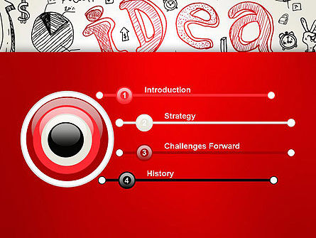 Idea Doodles PowerPoint Template Slide 3