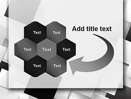 Overlapping Black and White Squares PowerPoint Template Slide 11