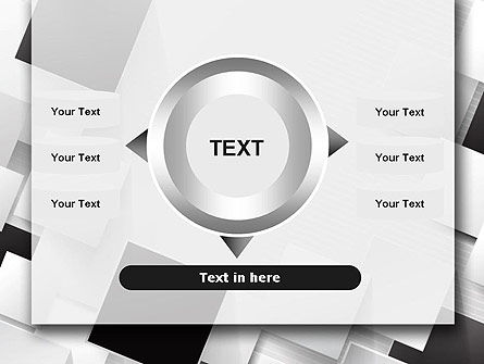 Overlapping Black and White Squares PowerPoint Template Slide 12