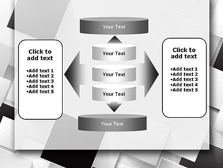 Overlapping Black and White Squares PowerPoint Template Slide 13
