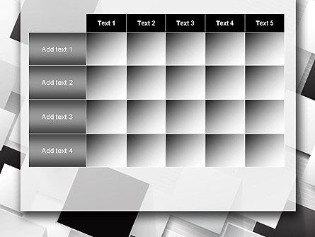 Overlapping Black and White Squares PowerPoint Template Slide 15